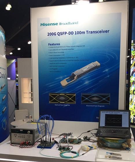 OFC2017上中国企业的新产品:400G/200G/100G模块 VCSEL/DFB芯片