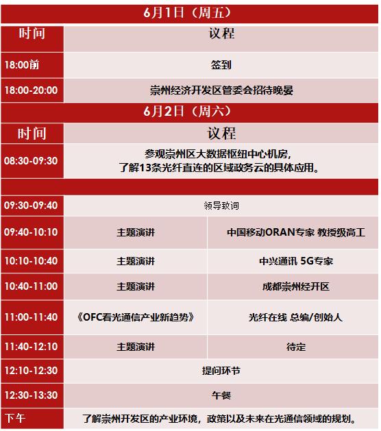 【6月2日活动】5G光通信技术与应用发展论坛