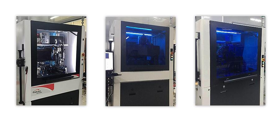 易飞扬正式下线自研的高速光器件全自动化设备