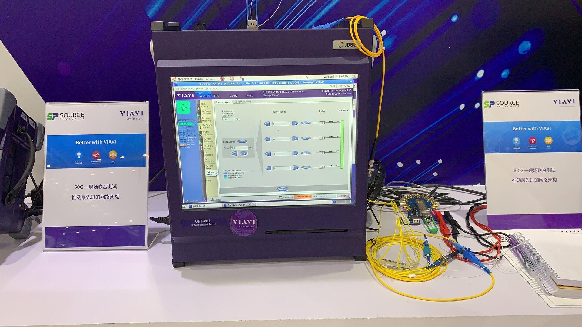 索尔思联合唯亚威在CIOE 2019演示其最新400G及50G光模块