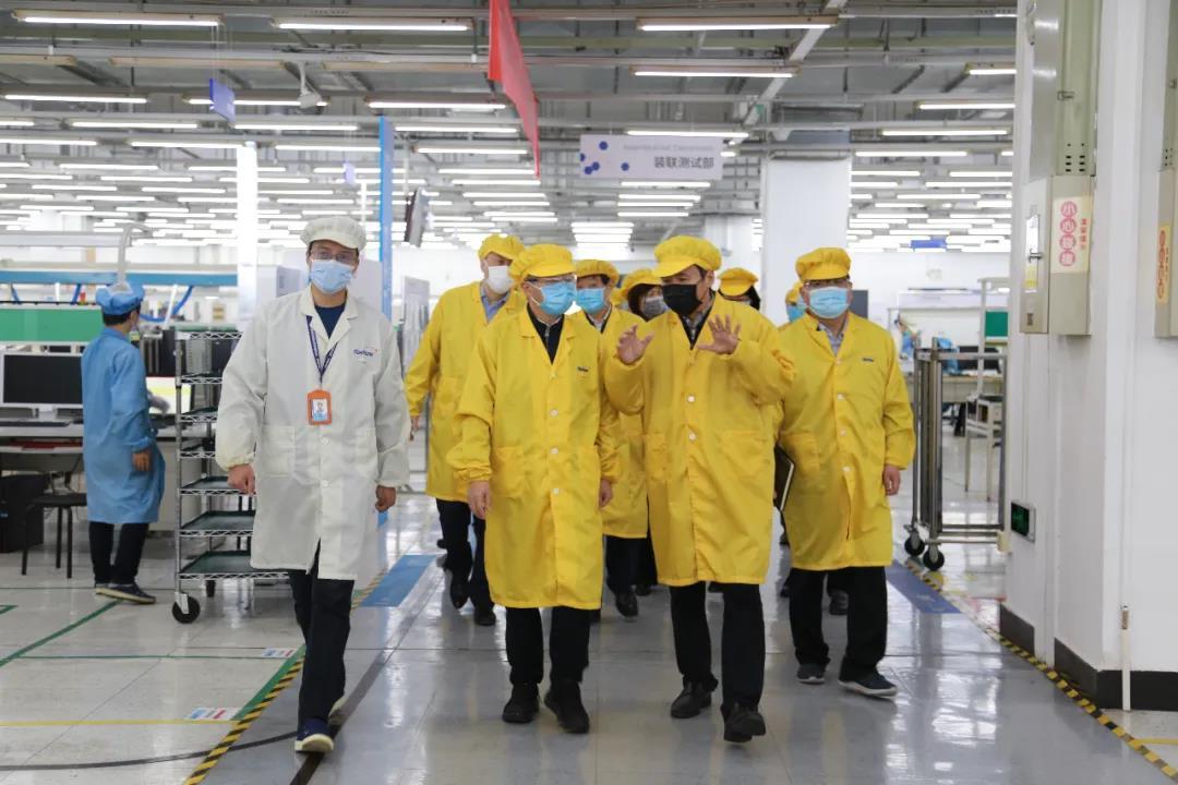 中央指导组成员、工业和信息化部党组成员、副部长王江平到中国信科集团调研