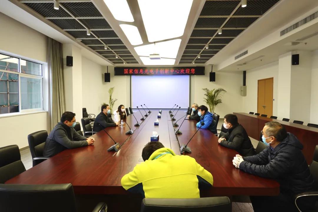 武汉市经信局领导调研创新中心防疫复工情况
