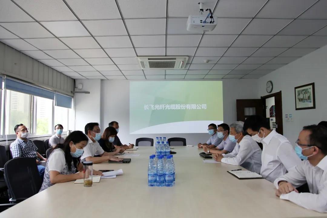 武汉市常务副市长胡亚波调研长飞公司
